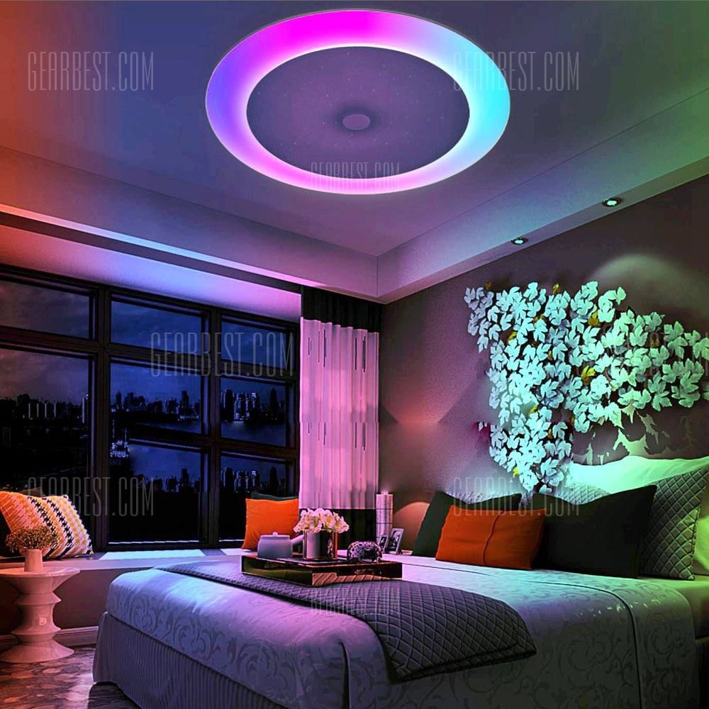 Smart Bluetooth Music Color Changing Ceiling Light What A Way To Set The Ambiance Affiliate L Led Lighting Bedroom Ceiling Lights Bedroom Ceiling Light