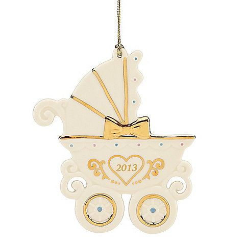 Lenox® 2013 Baby's First Christmas Carriage Ornament - Lenox® 2013 Baby's First Christmas Carriage Ornament Christmas