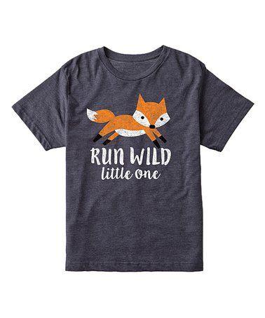 Look what I found on #zulily! Heather Blue 'Run Wild Little One' Tee - Toddler & Kids #zulilyfinds