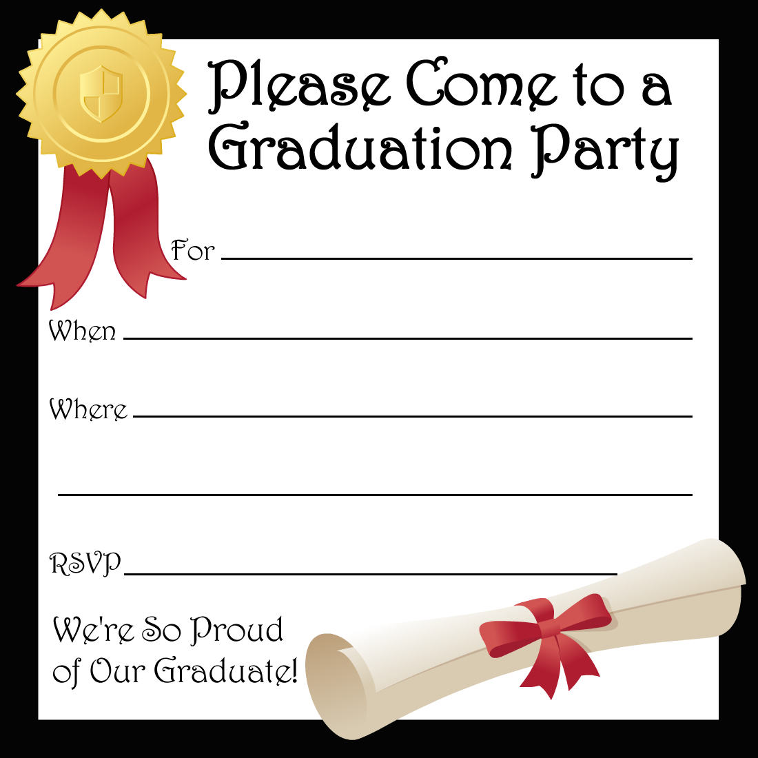 Free printable graduation party invitations party invitations free printable graduation party invitations stopboris Images
