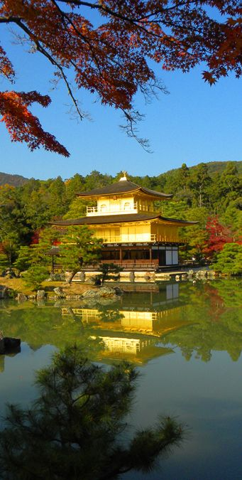 Kinkaku-ji (also known as the Golden Pavilion). One of Kyoto's most beautiful temples. More: http://bbqboy.net/photo-essay-kyoto-highlights/ #kyoto #japan