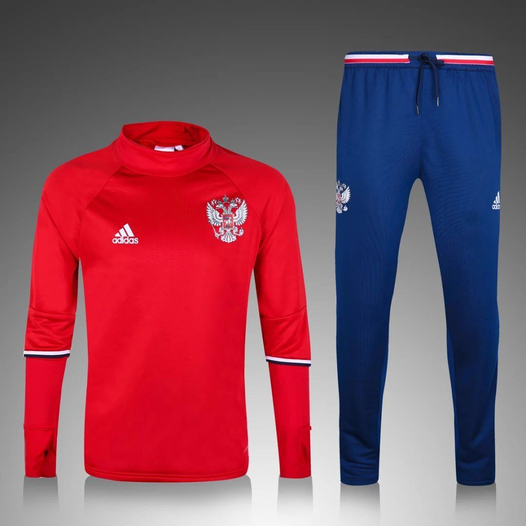 Russia 2016/17 Men Red Tracksuit Slim Fit Tracksuit, Red