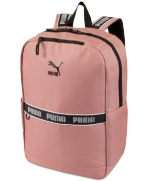Puma Linear Canvas Backpack Pink | Products | Pinterest