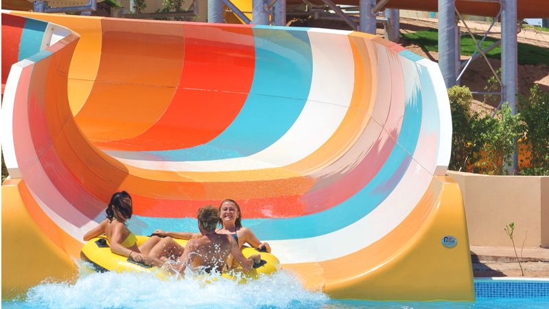 Family Rafting Slide at Travco Water World, Hurgada, Egypt