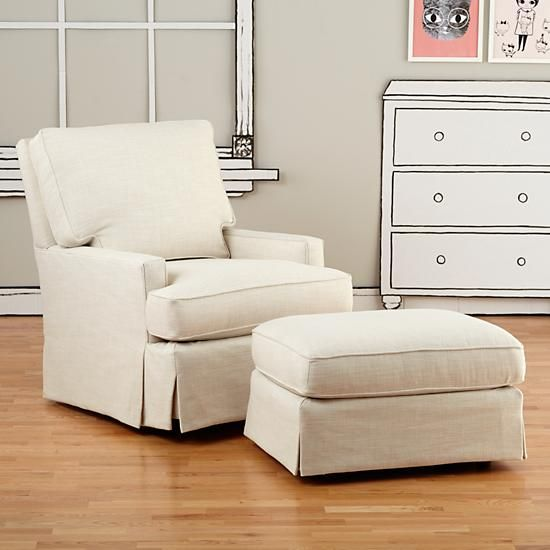 Decor Look Alikes | Land of Nod Mod Nod Swivel Glider and Ottoman ...