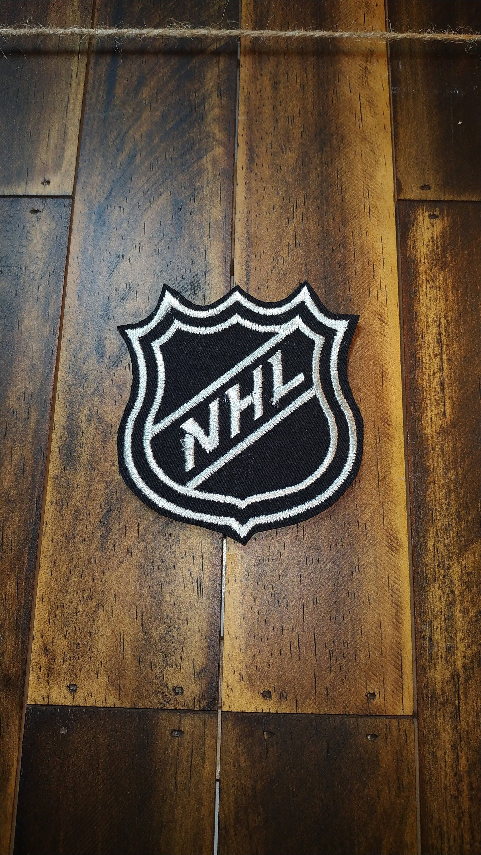 Patch Iron-On or Sew-On/NHL Logo/NATIONAL HOCKEY League/Embroidered Applique/Patches For Jackets, Jeans, Backpack/Modern Patches/7-8 cm