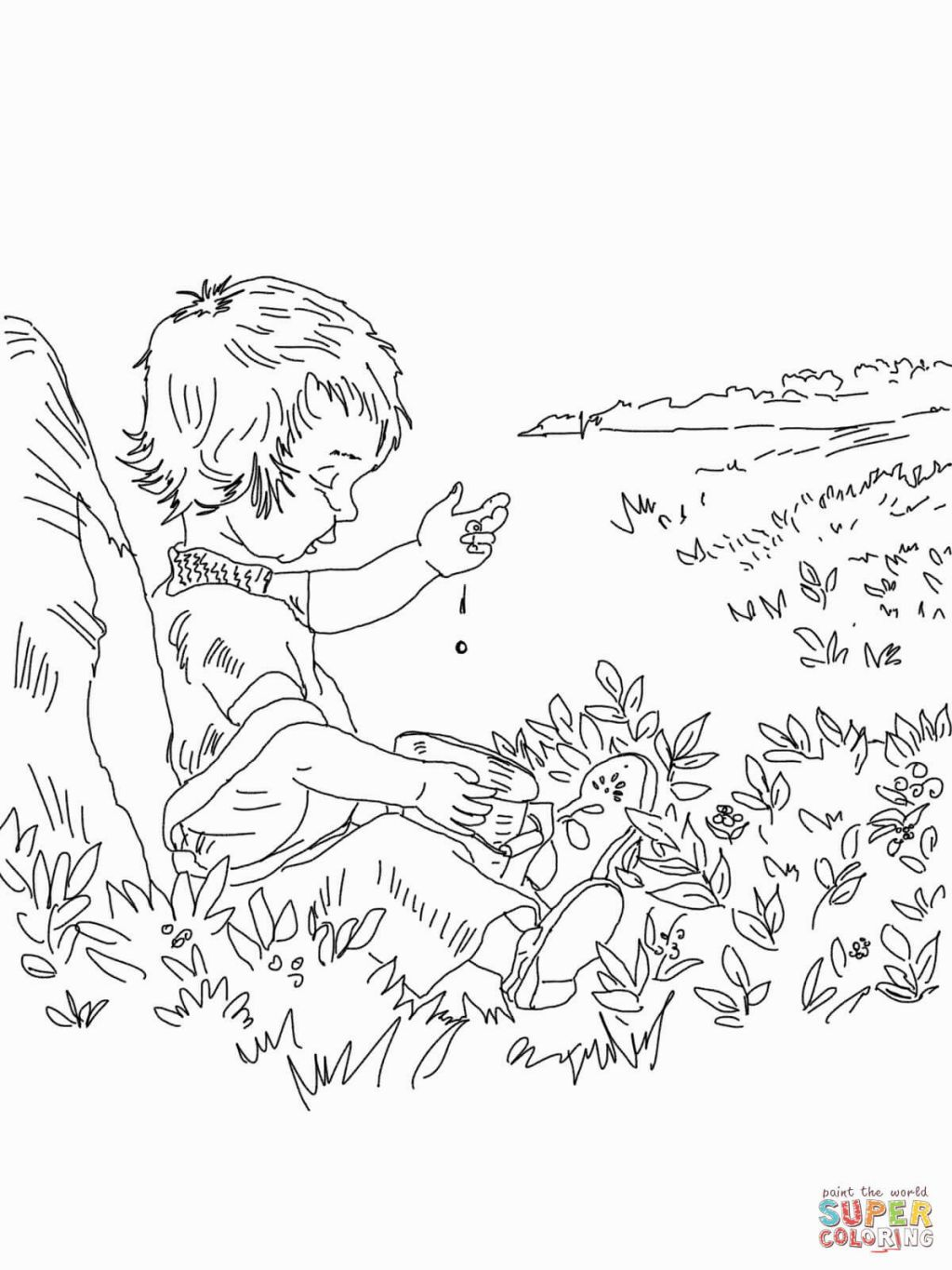 Blueberries For Sal Coloring Page Blueberries For Sal Five In A