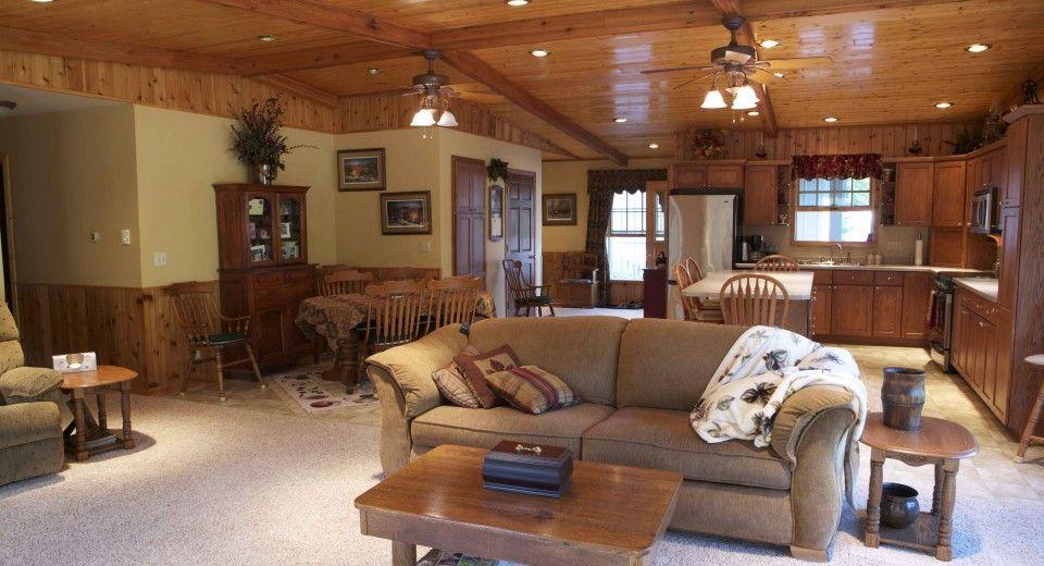 morton buildings custom home interior in deer river minnesota