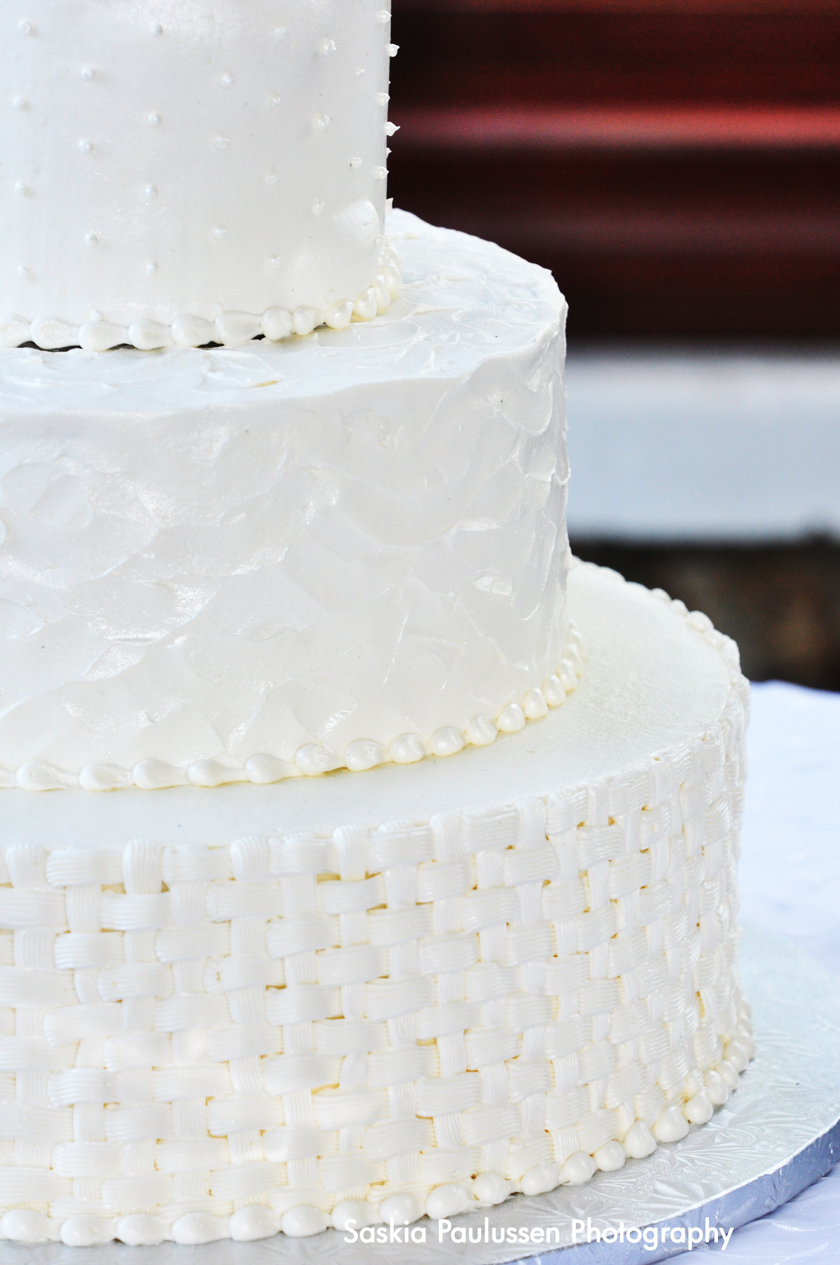 All White Wedding Cake by Amphora Bakery