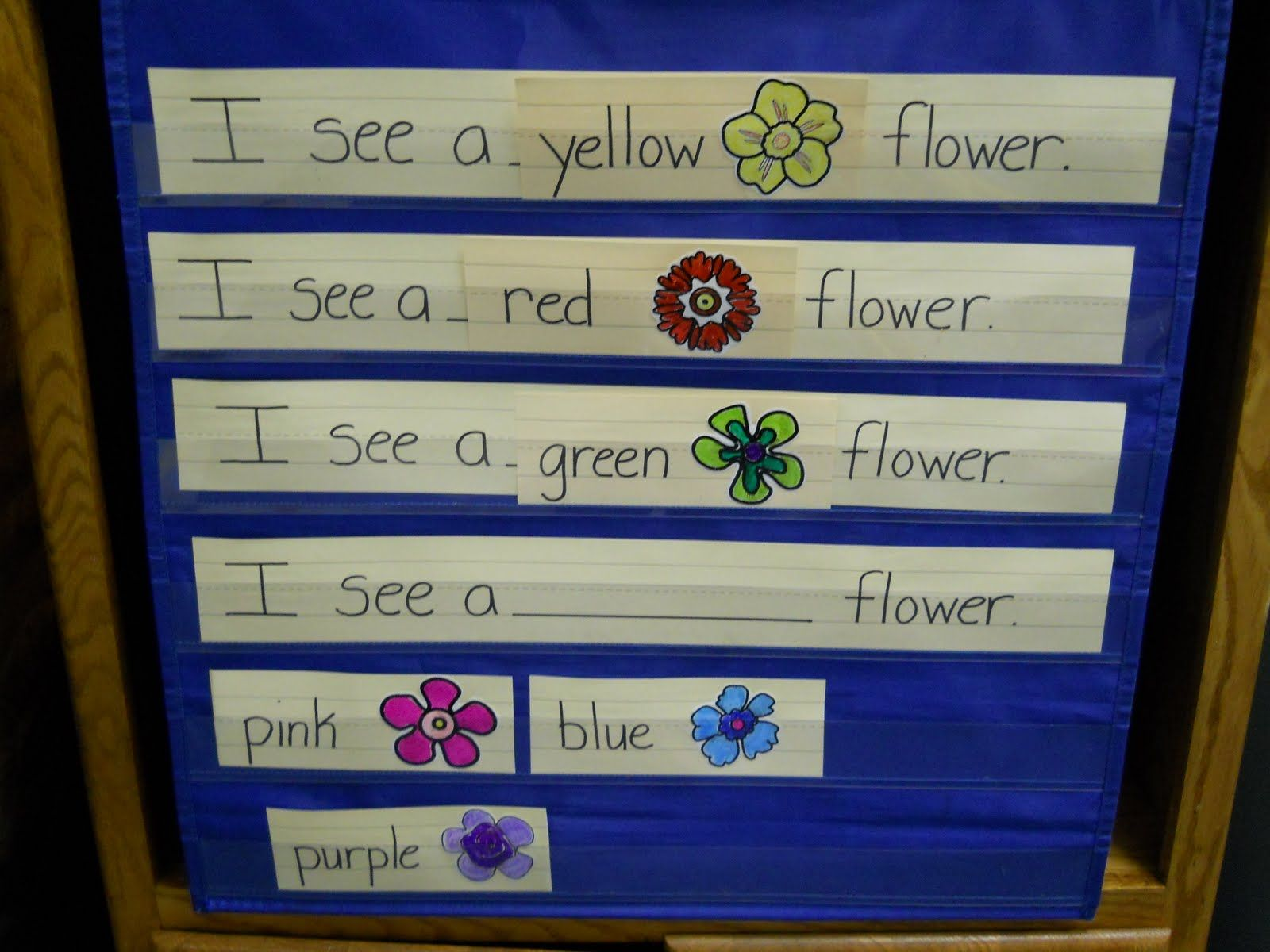 Learning and Teaching With Preschoolers: Flower Pocket Chart | Class ...