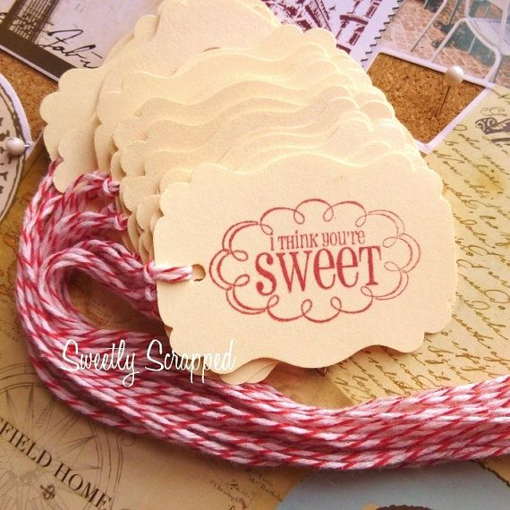 I Think You're Sweet Tags Valentine's Day by SweetlyScrappedArt, $3.50