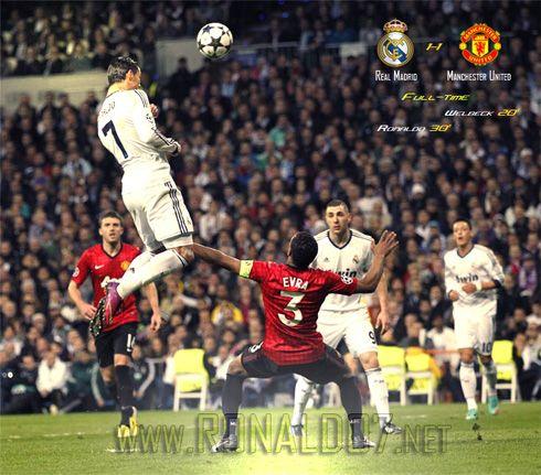 Cristiano Ronaldo Header Vs Manchester United Manchester United Champions League Manchester United Champions Cristiano Ronaldo