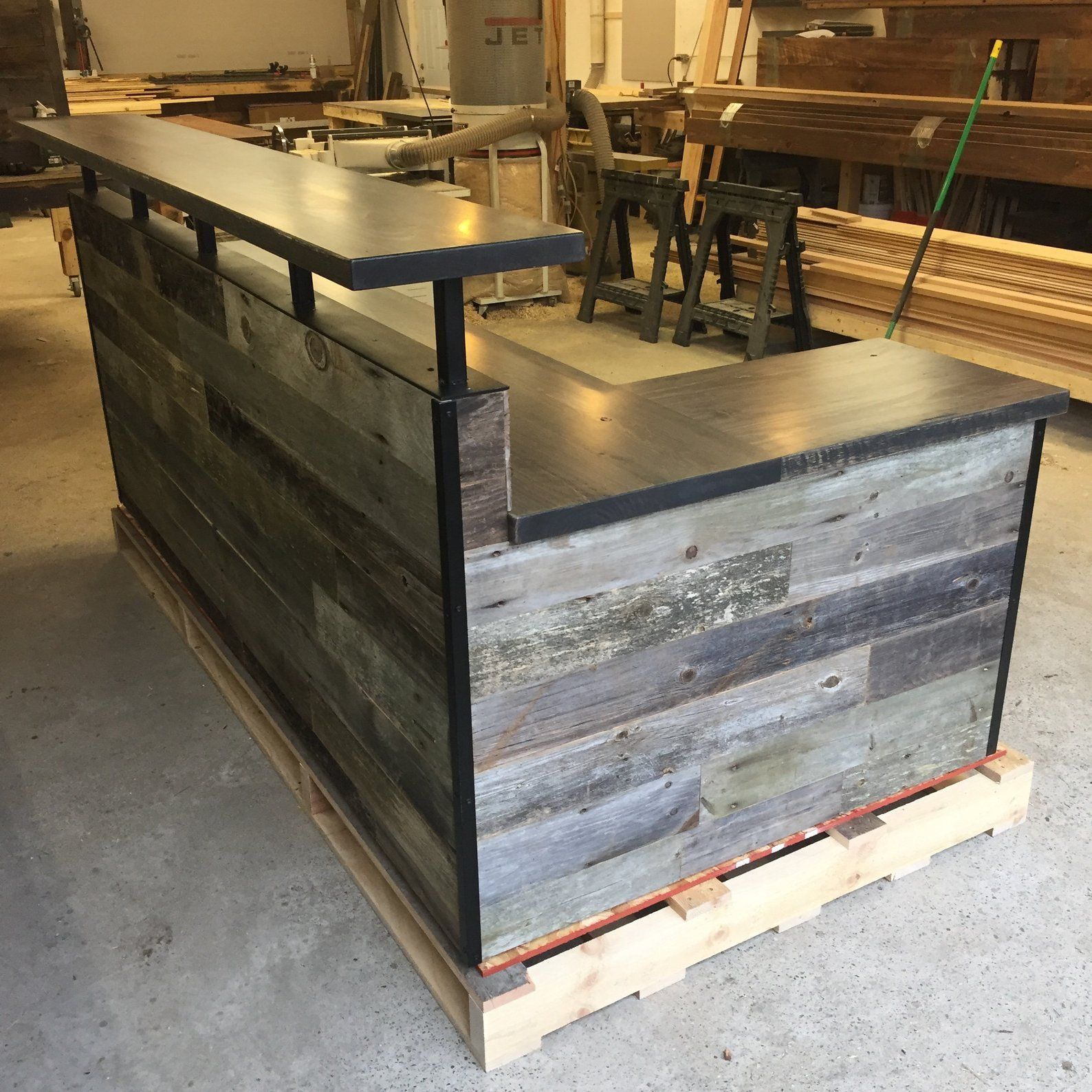 Barn Wood Business Reception Desk Front Desk Counter Etsy