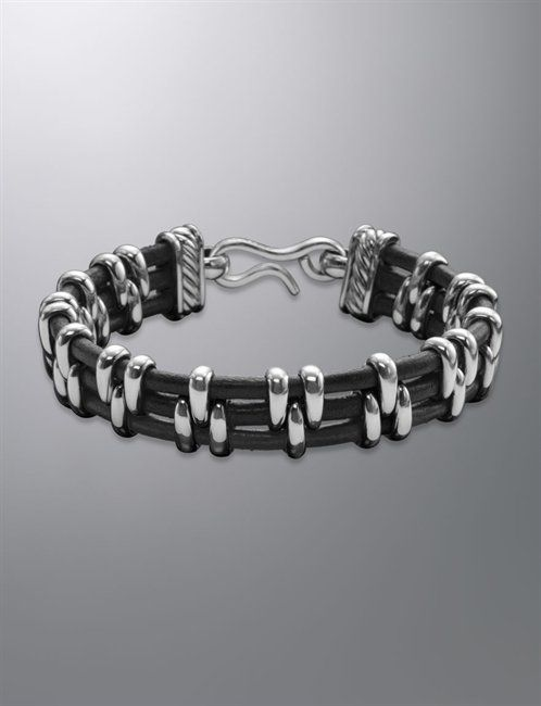 David Yurman | Men | Bracelets: Thoroughbred bracelet, Leather , 15mm
