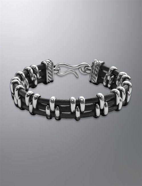 David Yurman | Men | Bracelets: Thoroughbred bracelet, Leather , 15mm