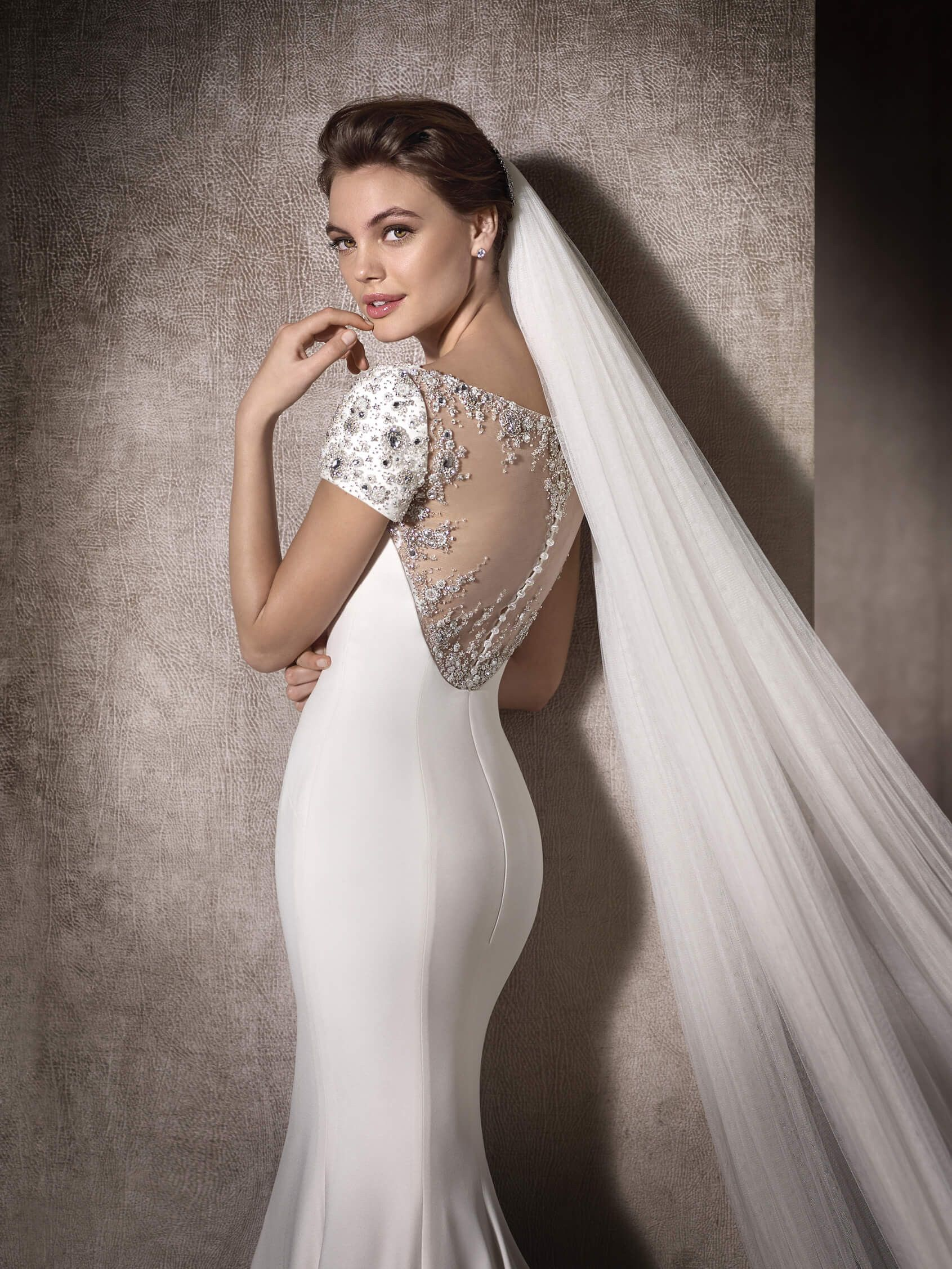 MARCELA is a sublime wedding dress with a gorgeous tulle back ...