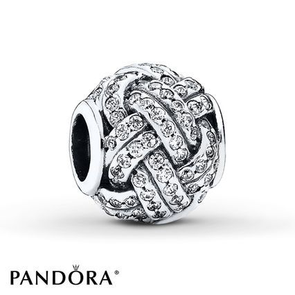 a9f0f53aaa9179 Pandora Charm Sparkling Love Knot Sterling Silver | memorable gift ...