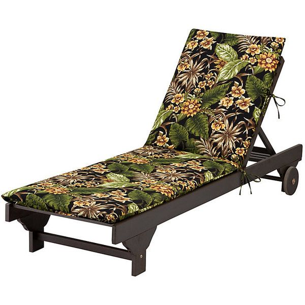 "Improvements Chaise Cushion-Knife Edge 72""x21-1/2""x2-1/2"" - Tropical... ($43) ❤ liked on Polyvore featuring home, outdoors, outdoor decor, 8686300, tufted chair cushion, tropical outdoor decor, outdoor garden decor, outdoor accent pillows and outdoor toss pillows"
