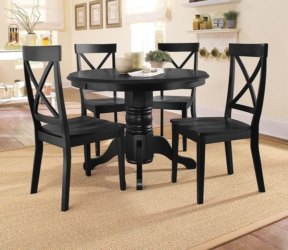 American Signature Furniture   Plantation Cove Black Dining Room  Collection Table $399.99