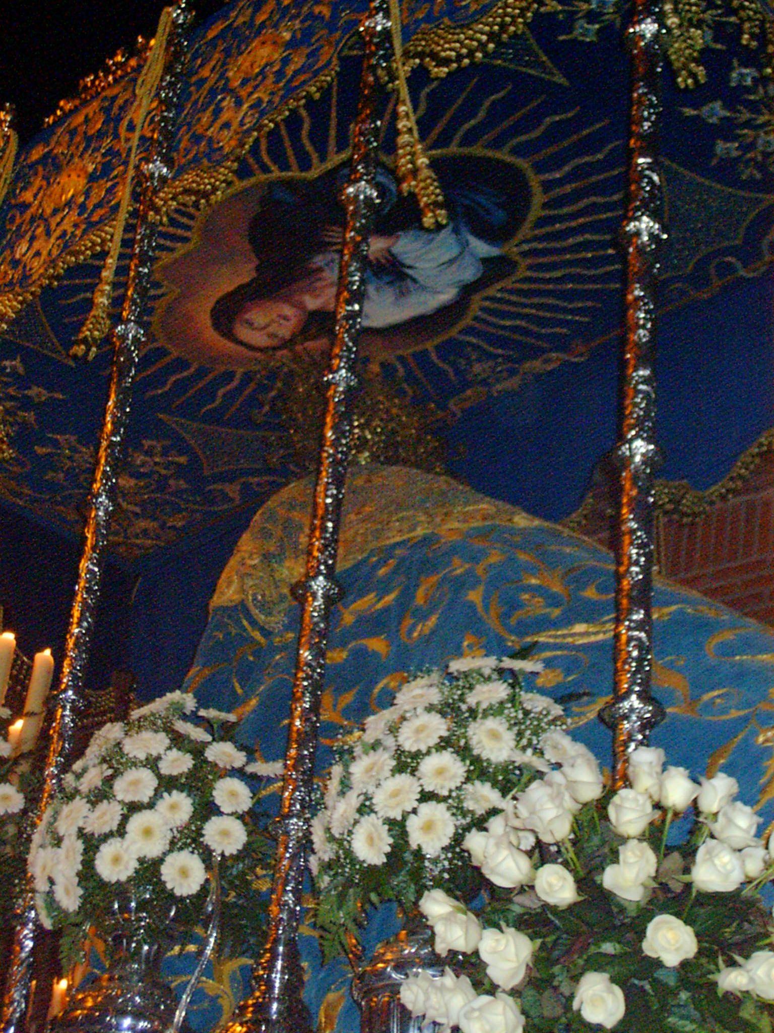 detalle del paso de palio de la cofradía de Jesús Cautivo