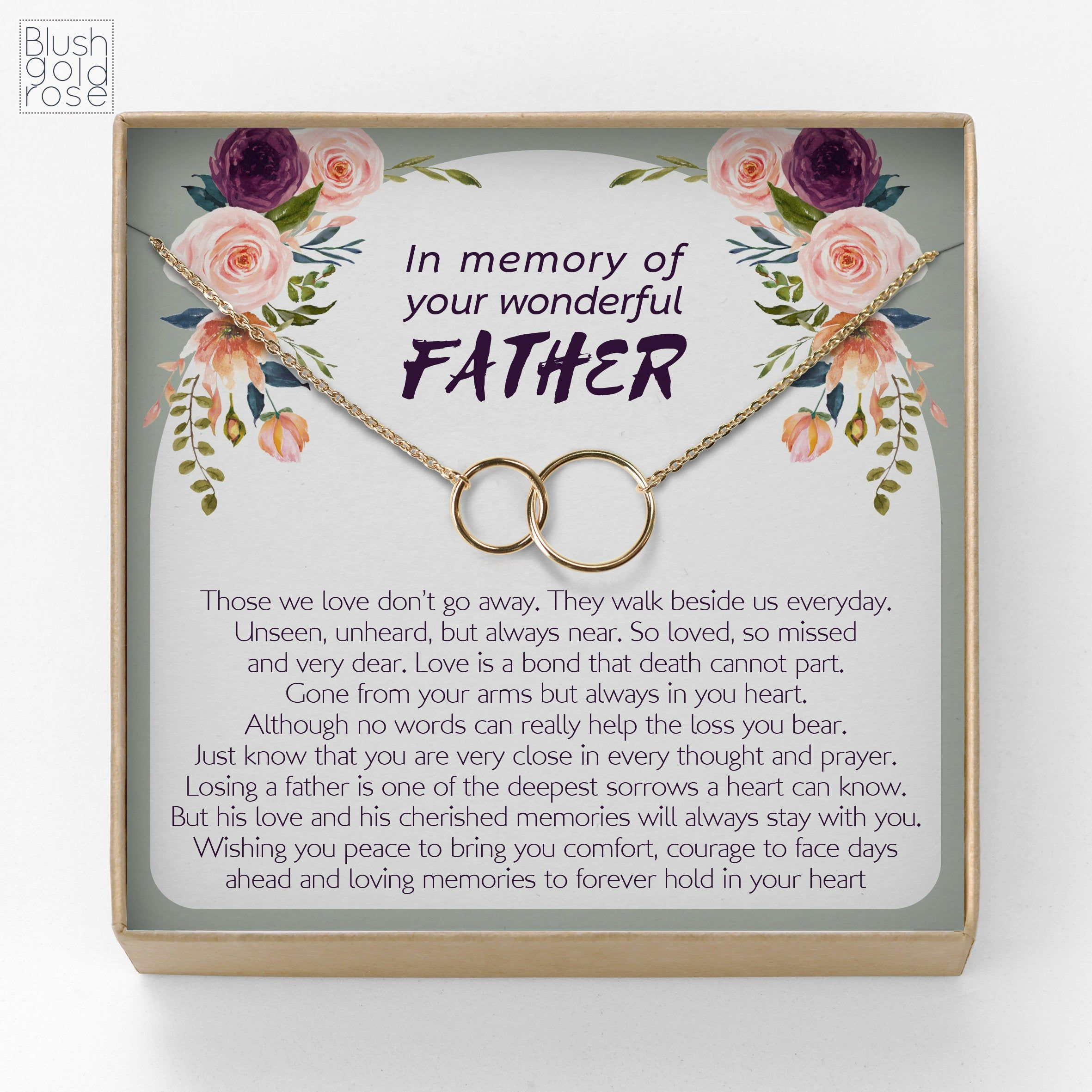 Loss of father condolence gift interlocking circles
