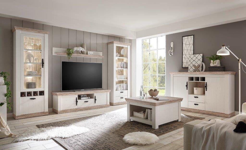 Wohnwand Florenz 8 Set 4 Tlg Im Romatischen Landhauslook In 2020 Wohnen Einrichtungsideen Wohnzimmer Landhaus Und Haus Und Heim