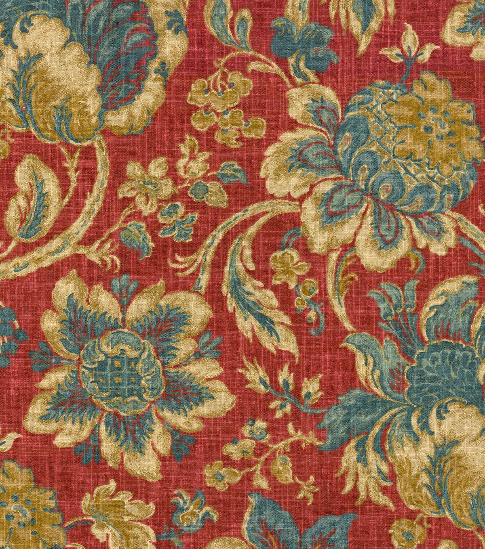 Home Decor Print Fabric Waverly Arbor Imagery Jewel