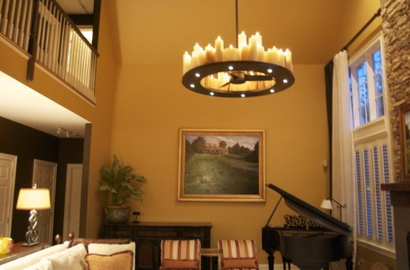 Cozy Elegant Country Casual Great Room. What fun to light ...