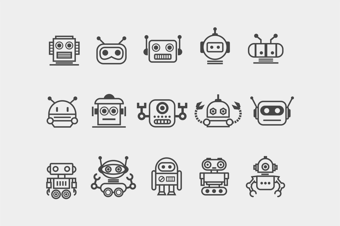 15 Robot Icons Robot Tattoo Robot Icon Robots Drawing