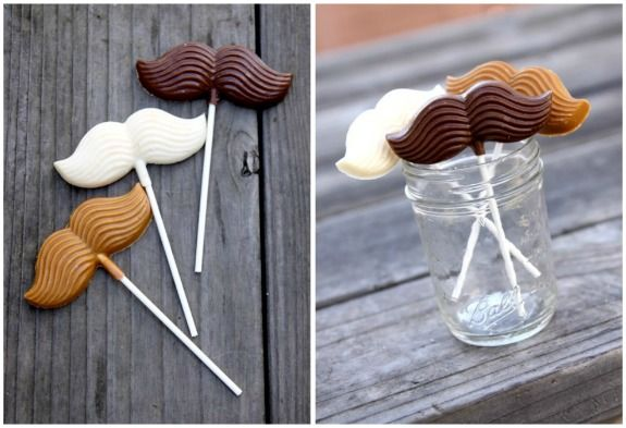 Chocolate moustache lollipops - my newest hobby is making chocolate lollipops so now I'm on the lookout for new fun shapes!