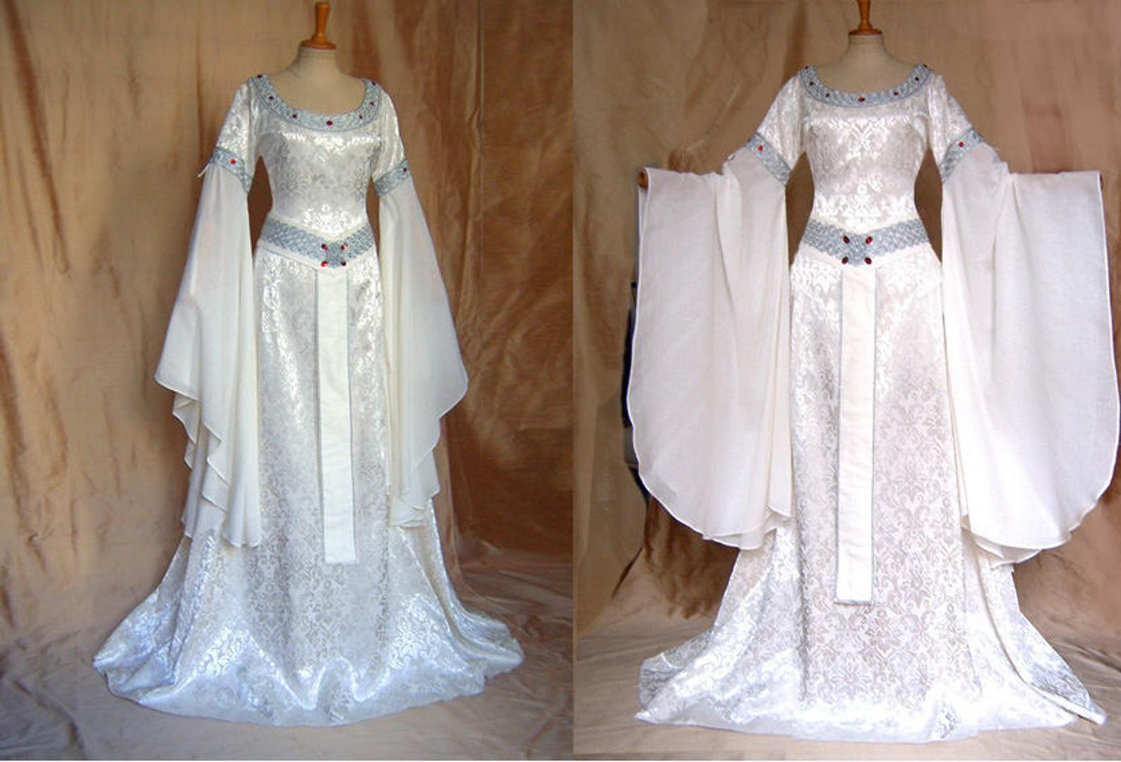 Elfenkleid Brautkleid Herr der Ringe Arwen Hochzeitskleid  Etsy