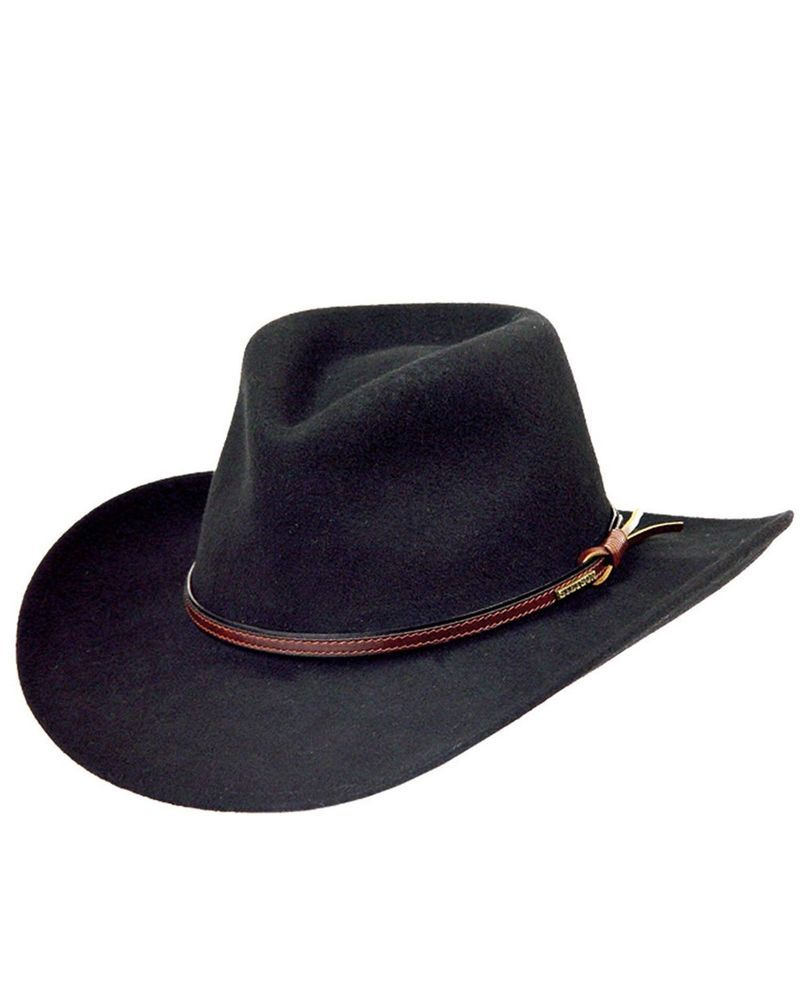 f7cc66aaf6a07 Pre Owned-Stetson Bozeman Black Wool Crushable Cowboy Western Hat - Large   fashion  clothing  shoes  accessories  mensaccessories  hats (ebay link)