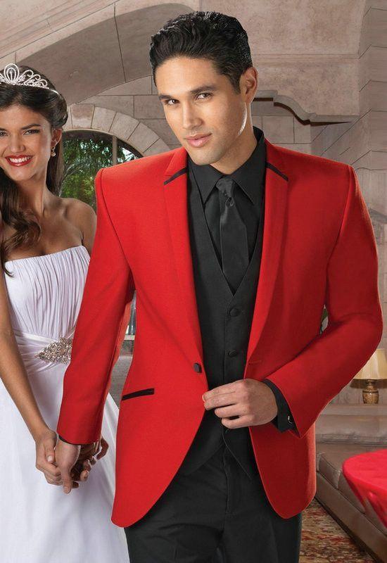 Two Buttons Tuxedos High Quality Notch Lapel Men Wedding Suit (Jacket +Pants+Vest