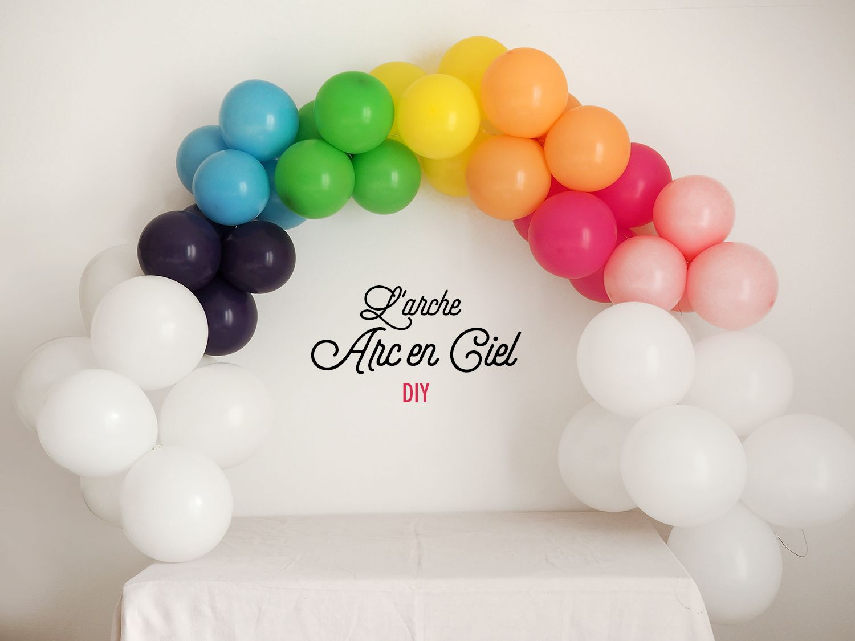 Arche Ballon Arc En Ciel Tuto Diy Blog Sweet Party Day Decoration Anniversaire Licorne Decoration Ballon Anniversaire Anniversaire Arc En Ciel
