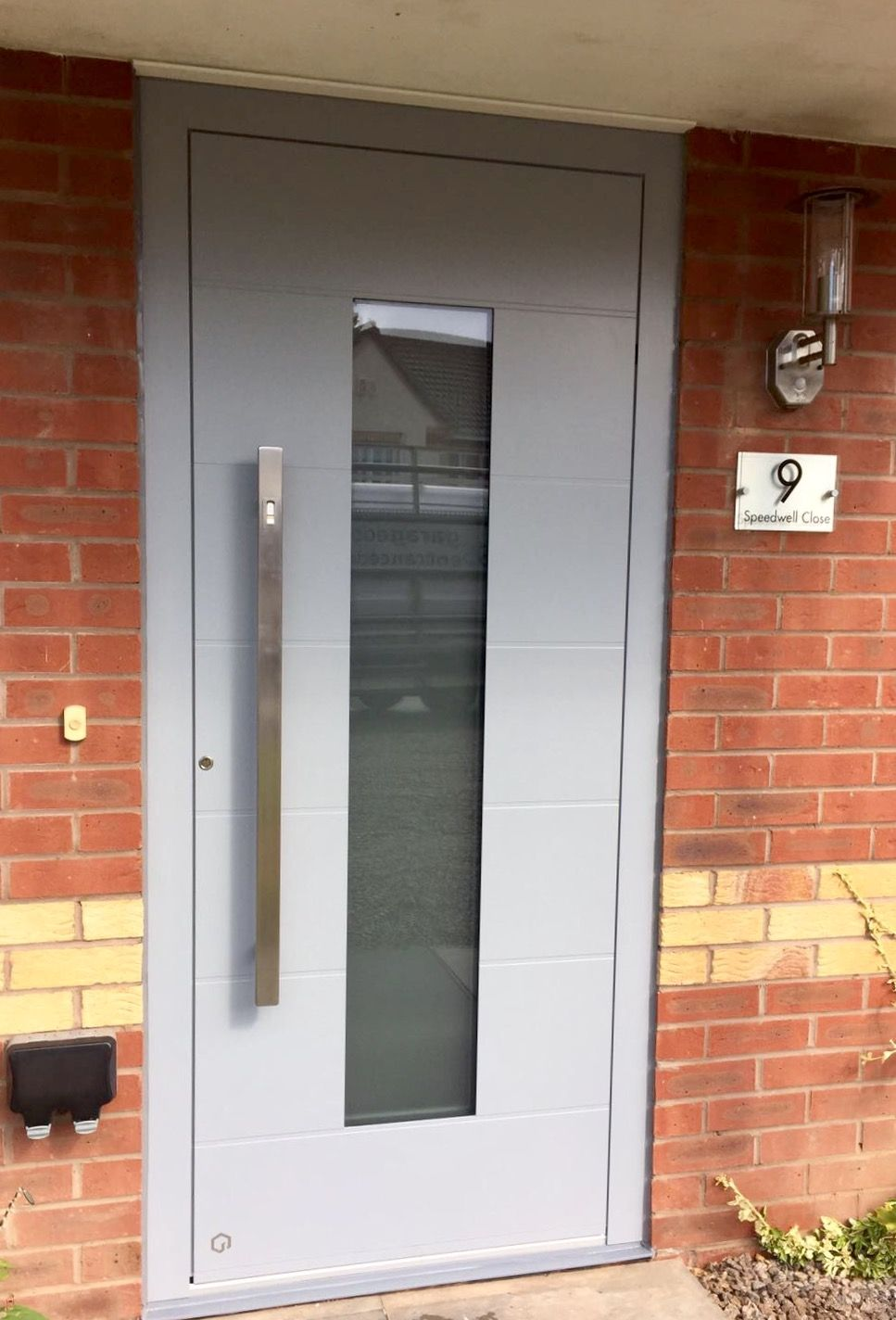 Bespoke Aluminium Entrance Door Ral 7040 Front Doors Doors