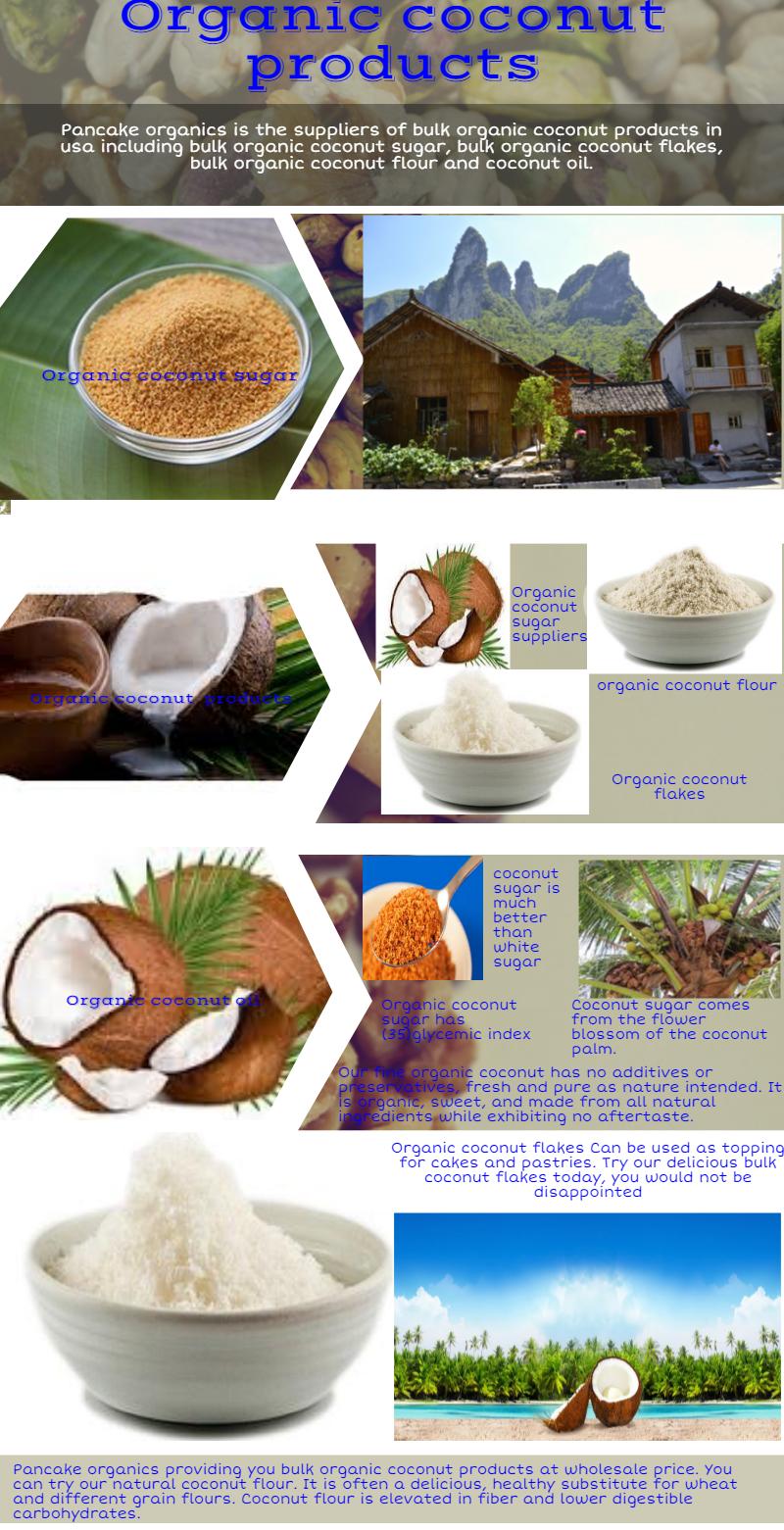 Contact pancake organics to buy bulk amount of organic coconut