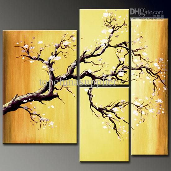 Buy cheap art modern abstract oil painting on canvas feng shui peach ...