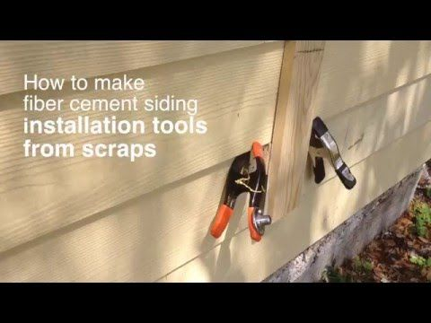 How To Make Fiber Cement Siding Installation Tools From Scraps Youtube With Images Fiber Cement Siding Fiber Cement Siding Installation Cement Siding