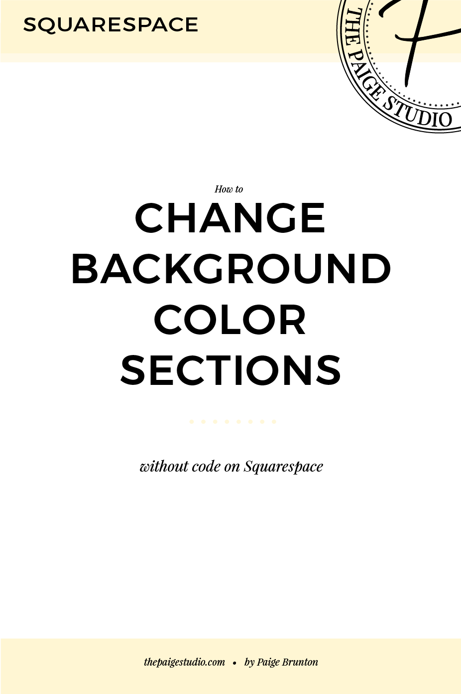 How to change the content background color on one individual page or ...