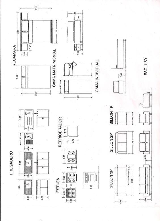 tabla de medidas de muebles  Buscar con Google