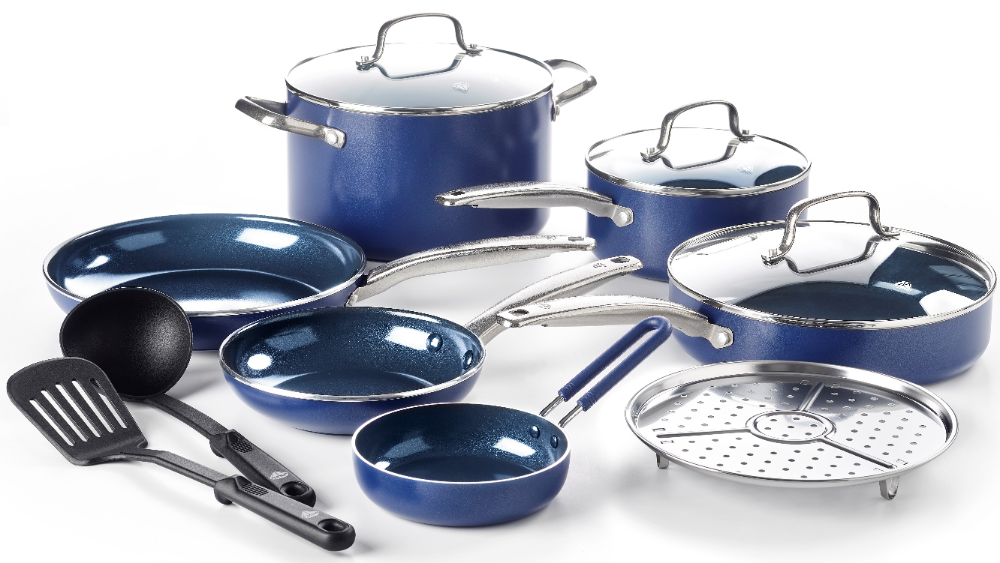 Granite Stone Non Stick Pots And Pans Set 10 Piece Cookware Set Blue Walmart Com Ceramic Cookware Set Ceramic Nonstick Cookware Nonstick Cookware
