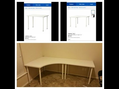 linnmon adils corner desk and regular from ikea you
