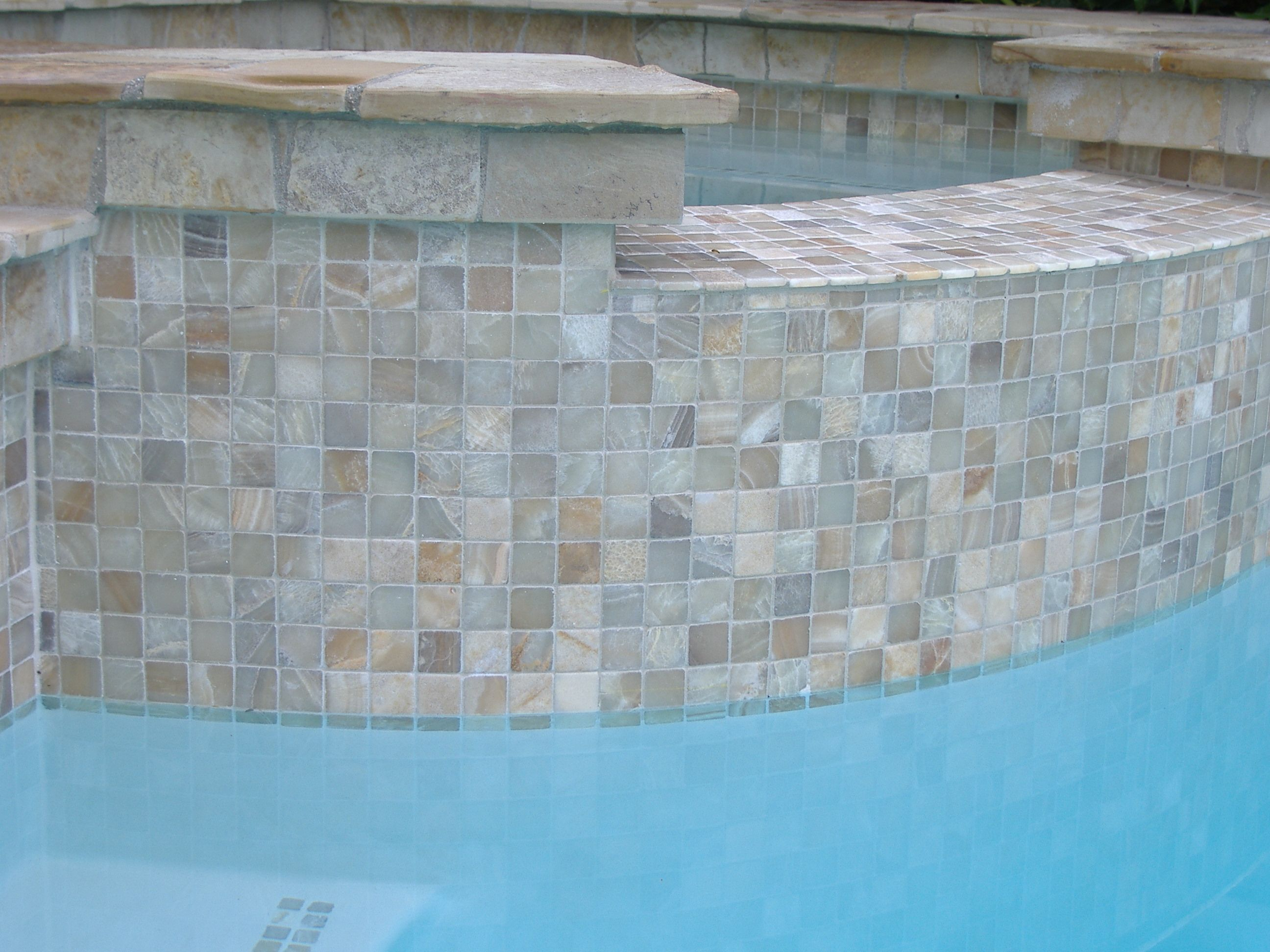 onyx 2 x 2 mosaic tiles by zen paradise inc natural stone pool tile swimming - Swimming Pool Tile Designs
