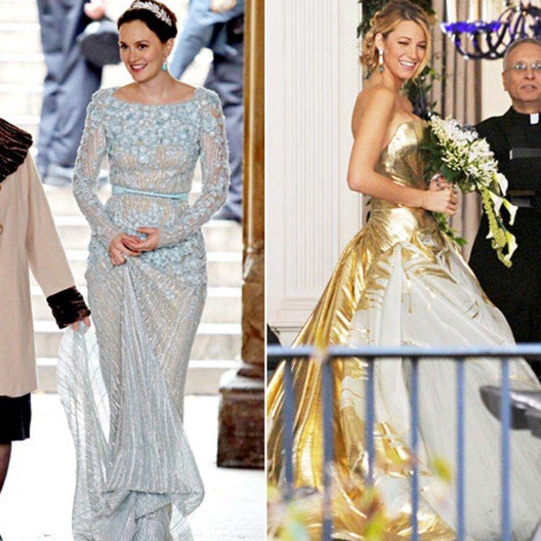 blake lively et leighton meester leurs robes de mari e dans le final de gossip girl robe