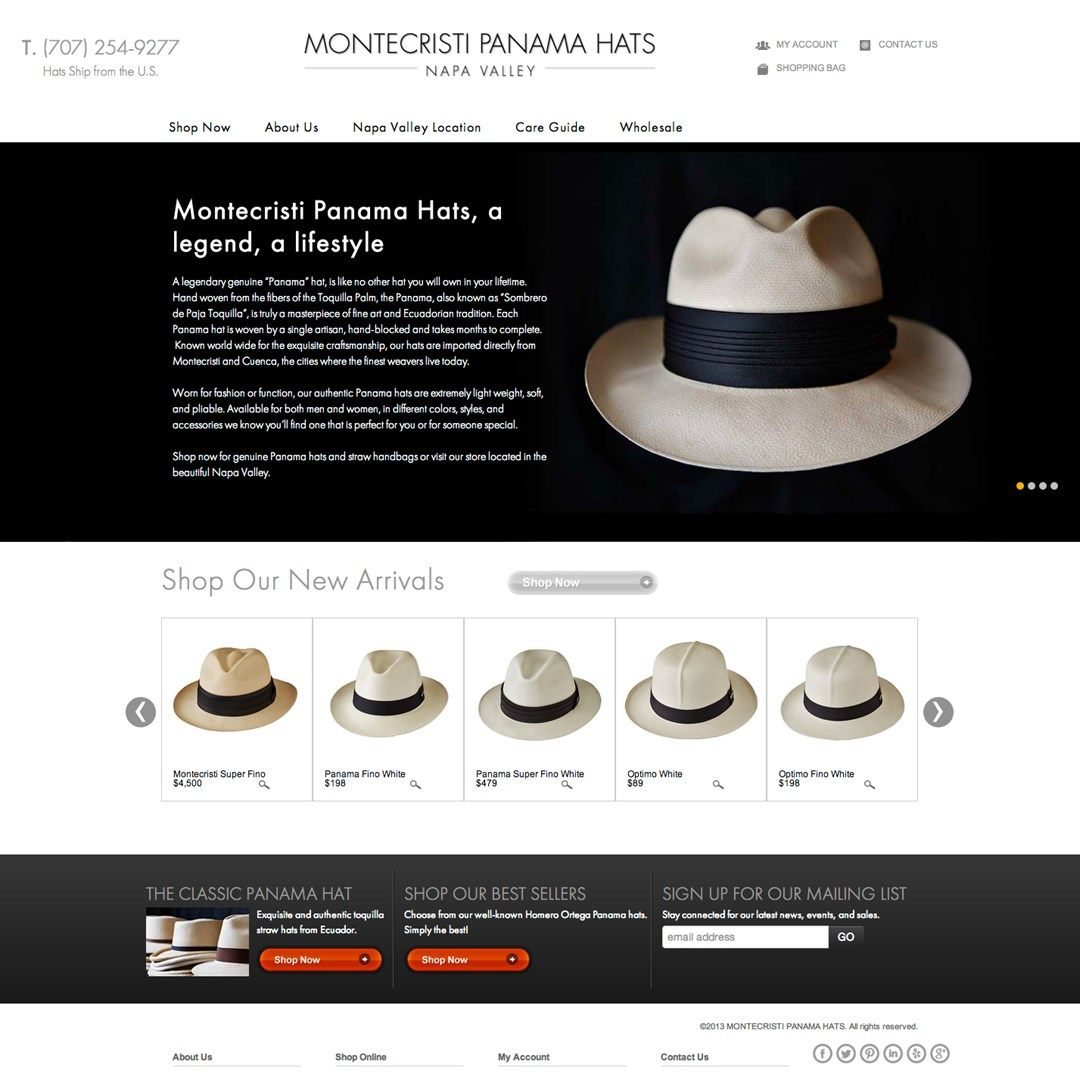 Montecristi Panama Hats Launches New Website. Love these hats...
