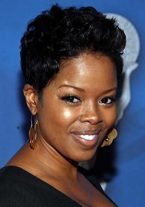 Curly Short Dark Hair For Black Women Round Face Jpg 500 714 Short Curly Hairstyles For Women Black Haircut Styles Short Hair Styles