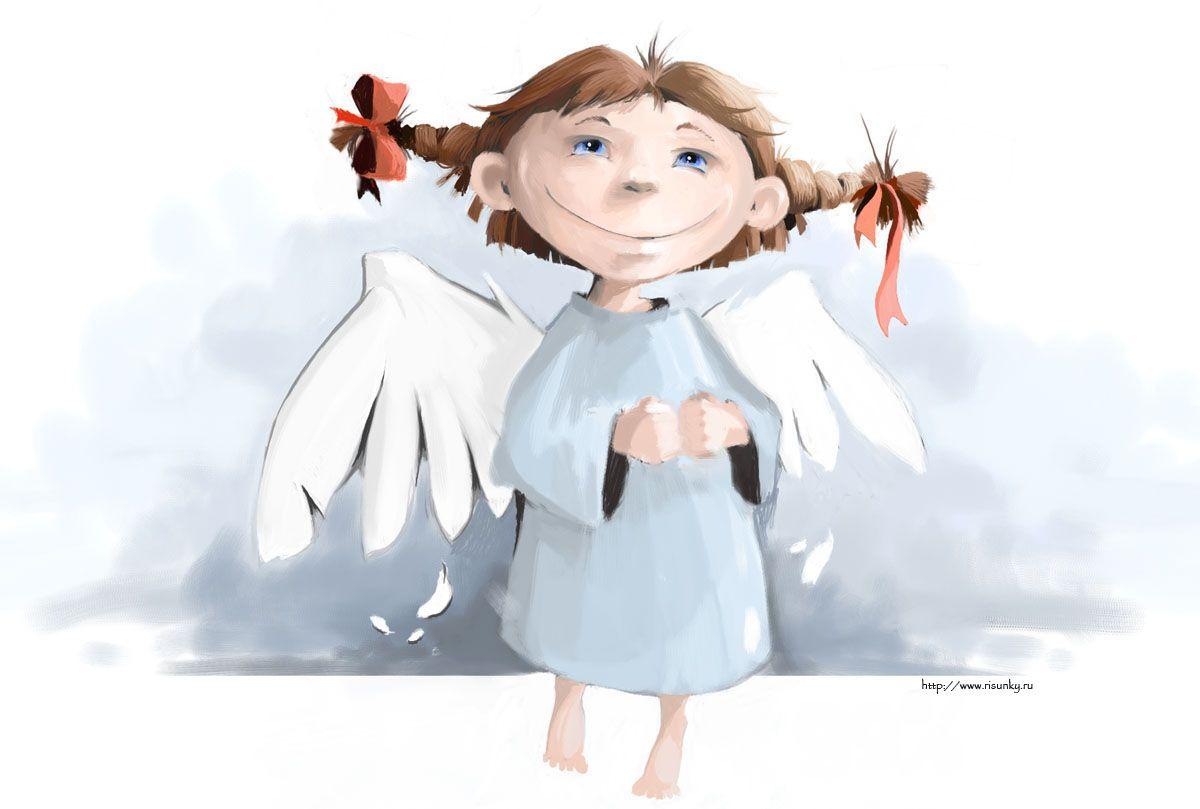 Открытка, картинка ангела смешная