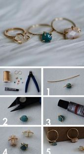 Photo of DIY Jewelery create your own dainty stone set wire ring hand …