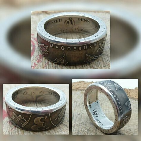 www.muenzenringe.de Magdeburg am Finger😀! #ring #coin #coinring #silber #silver #magdeburg #ottovongericke #eulenspiegel #dawanda #ddr #sachenanhalt #fashion #handmade #jewelry #insta #instajewelry #graft #breclet #brecelet #eyecatcher #chic #clam #necklaces #earrings #unikat