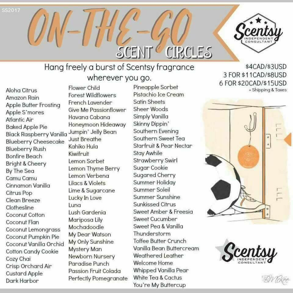 Did you know you can take scentsy on the go with you